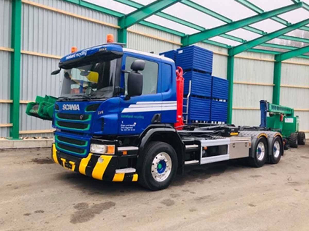 Scania R420 6x4 - Hakenlift Hiag
